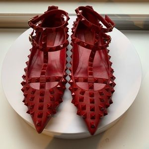Authentic Valentino rockstud flats